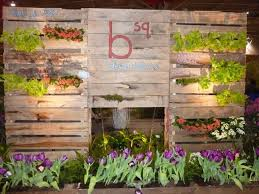 garden display built completely from used pallets treehugger
