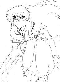 high quality free inuyasha anime manga coloring pages for kids