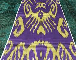 Purple Ikat Curtains Purple Ikat Fabric Etsy