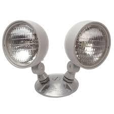 Remote Outdoor Light by Nicor 7 2 Watt Dual Head Weatherproof Indoor Outdoor Emergency