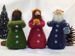 three kings needle felted ooak wise men epiphany waldorf