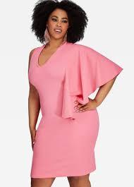 sleeve dress plus size 1 cape sleeve v neck knee length sheath dress