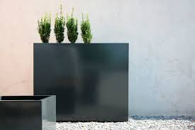 Square Metal Planter by Galvanized Steel Planter Square Contemporary Flowerbox By