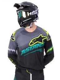 signed motocross jerseys alpinestars black teal yellow 2017 techstar factory mx jersey