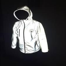 luminous cycling jacket hi vision fashionable 3m motorcycle reflective running jacket