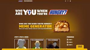 Mãªme Generator - snickers asks people to share who they are when they re hungry with