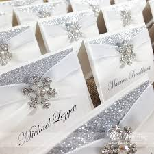 snowflake wedding stationery from the cinderella collection