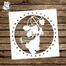 female sports golfer papercut template personal from