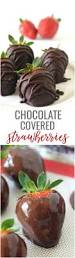 easy chocolate covered strawberries natural chow