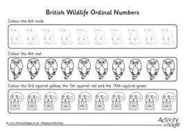 ordinal numbers gap worksheet 1