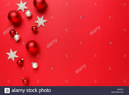christmas ornaments decorations background classic red and white