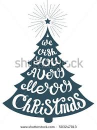 vector tree holidays lettering we stock vector 503246956