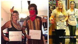pipeline protester halloween costumes stir controversy inforum