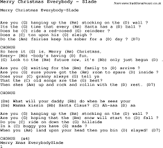 song merry everybody by slade song lyric for vocal