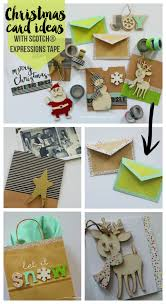 christmas cards with scotch expressions tapes a and a glue gun