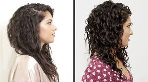 why is my hair curly in front and straight in back women with curly hair perfect their curls youtube