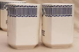 antique canisters kitchen antique vintage blue white china canister jars kitchen pantry
