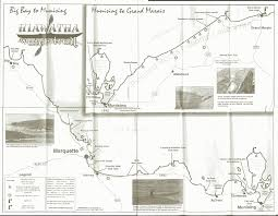 Michigan Trail Maps by Hannahville Learn And Serve Hiawatha River Trail