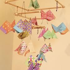 origami chambre bébé mobile bebe bois suspension chambre enfant bébé en origami animaux