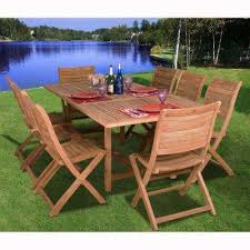 Teak Patio Table with Extendable Table Patio Dining Furniture Patio Furniture The