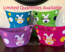 personalized easter baskets for toddlers easter basket etsy