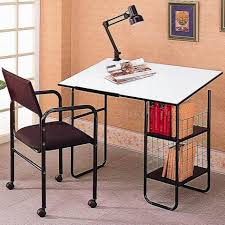 Commercial Drafting Table Steel Frame Desk Corner Computer Desk With Hutch Silver Metal Desk