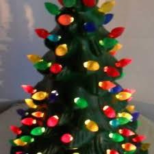 vintage mccoy lighted ceramic christmas tree ceramic christmas