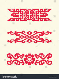 ornaments china style stock vector 227256223