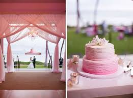 pink ombre maui wedding of danielle and george
