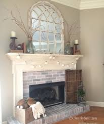 Shabby Chic Fireplaces by Best 25 Fireplace Mirror Ideas Only On Pinterest Fire Place
