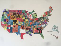 A United States Map by 25 Best Custom Letter Mosaics Images On Pinterest Mosaic