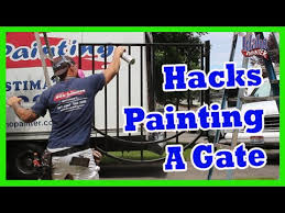 tips painting an iron gate or door with dtm metal fence hacks