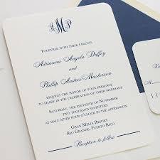 monogram wedding invitations blush paperie