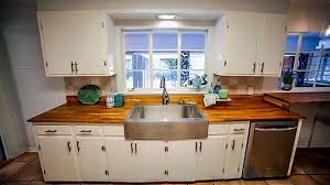 kitchen cabinet colors with butcher block countertops kitchen design ideas wow guests with