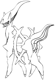 arceus legendary pokemon coloring pages coloringstar