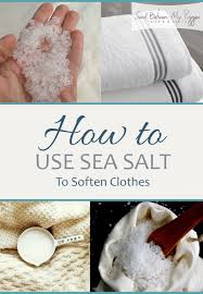 spring cleaning tips and tricks how to soften clothes sea salt hacks laundry tips and tricks
