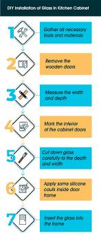 glass kitchen cabinet doors diy convert your wooden kitchen cabinet door to a glass cabinet