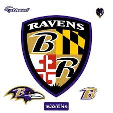 fathead 44 in h x 38 in w baltimore ravens shield logo wall
