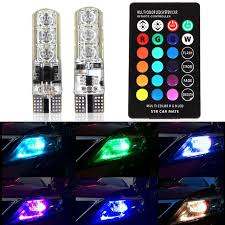 turn signal parking light assembly 5050 smd rgb led t10 w5w bulb car wedge side light turn signal