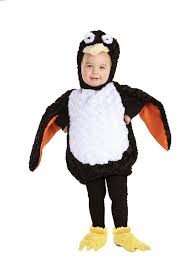 Childrens Animal Halloween Costumes by Amazon Com Underwraps Baby U0027s Penguin Belly Babies Black White