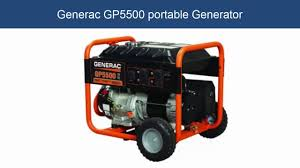 generac gp5500 portable generator feature youtube