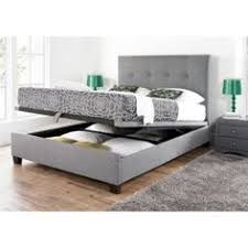 Grey Upholstered Ottoman Bed May Grey Fabric 4 Drawer Bed Frame