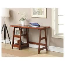 Trestle Computer Desk Trestle Desk Cherry Convenience Concepts Target