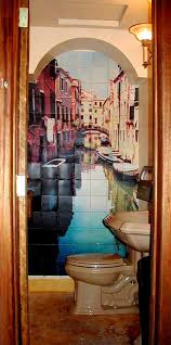 bathroom mural ideas fascinating bathroom tile murals for inspiration to remodel home