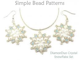 necklace jewelry patterns images Diamonduo crystal snowflake earrings necklace jewelry making pattern jpg