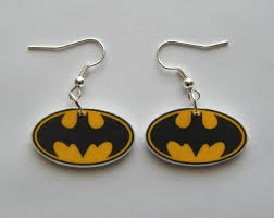 batman earrings batman dangle earrings jewlery dangles
