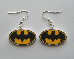 batman earrings batman dangle earrings jewlery dangles