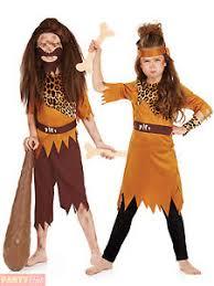 childs caveman cavegirl costume boys girls stone age fancy dress