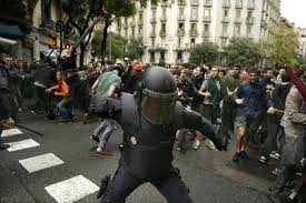 catalonia spain at standoff after violence mars referendum the
