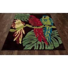 art carpet antigua parrots brown green indoor outdoor area rug